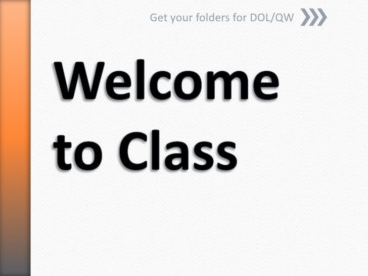 Get your folders for DOL/QW