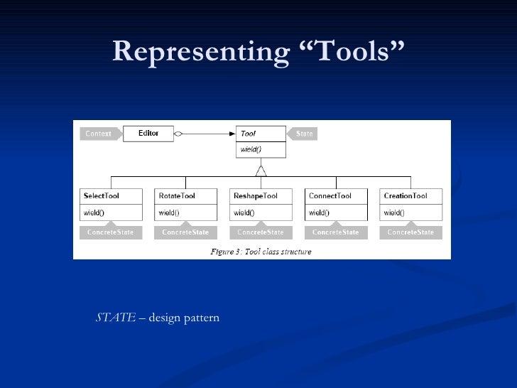 "Representing ""Tools"" STATE  – design pattern"