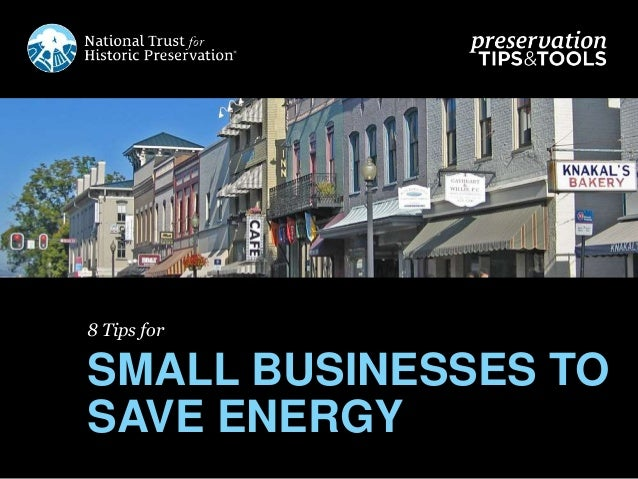 8 Tips for SMALL BUSINESSES TO SAVE ENERGY