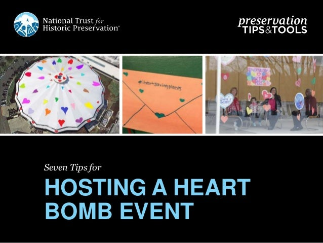 Seven Tips for HOSTING A HEART BOMB EVENT