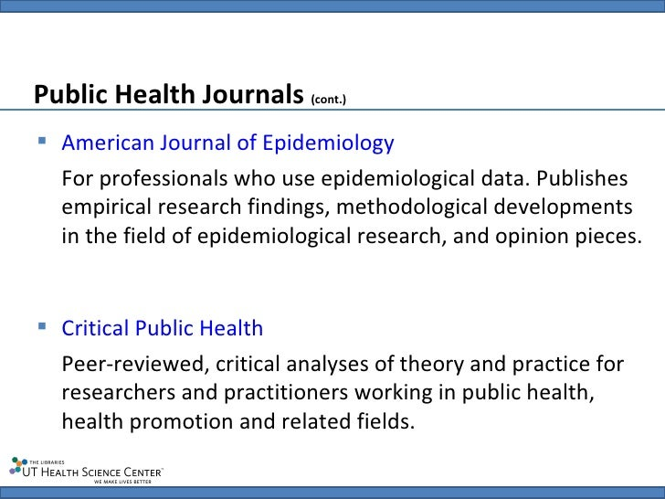 Professional degrees of public health