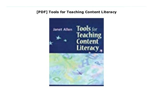 Pdf Tools For Teaching Content Literacy
