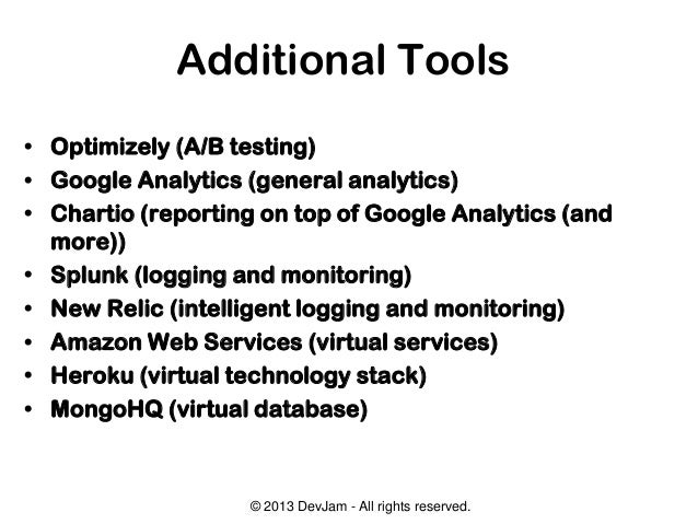 Tools for Technical Agility