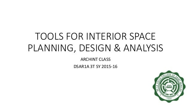Archint Tools For Interior Space Planning Design Analysis