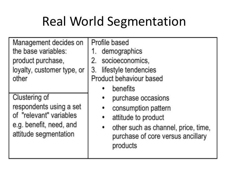 Real World Segmentation<br />
