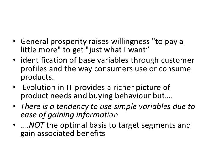 """General prosperity raises willingness """"to pay a little more"""" to get """"just what I want"""" <br />identification of base variab..."""