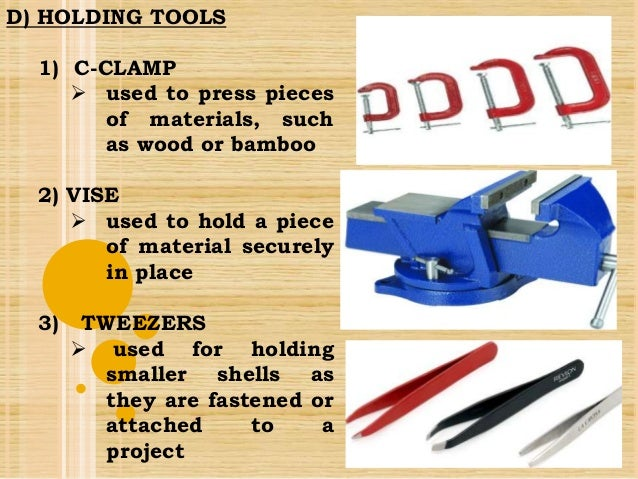 Tools And Equipment In Handicrafts