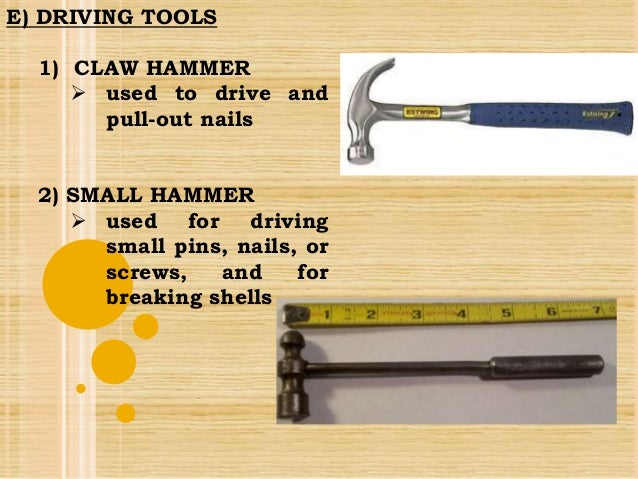 What tools are used in handicraft?