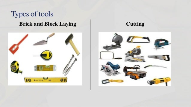 Types Of Tools Brick And Block Laying Cutting ...