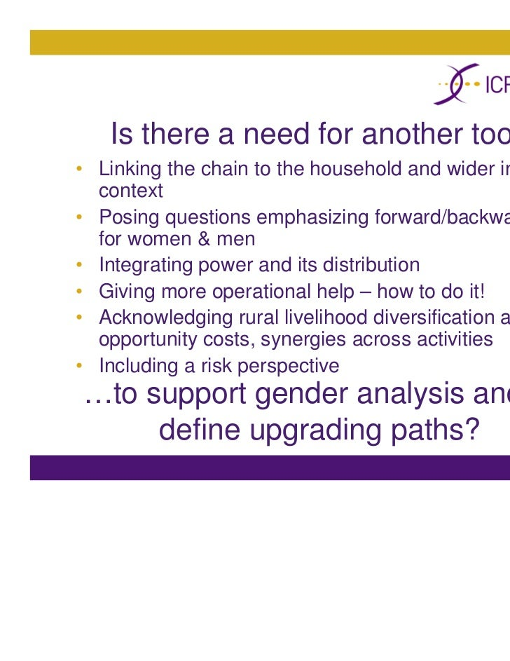 ICRW: Tools and tactics - An analytical framework for doing gender an…