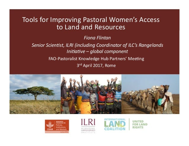 38444b277c6a Tools for improving pastoral women s access to land and resources