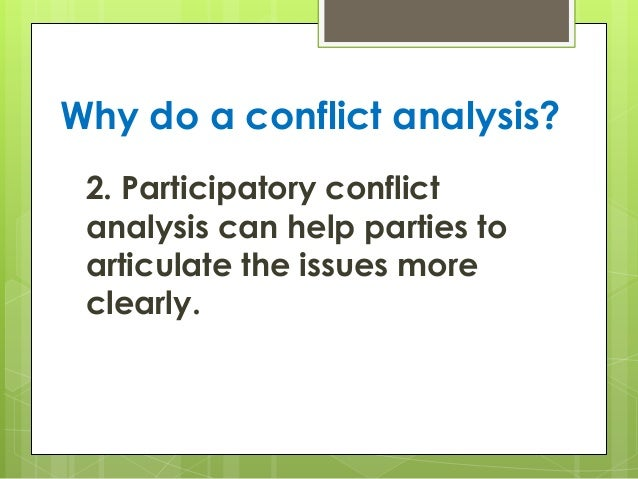 confrontation analysis Review of: john curry and mike young, the confrontation analysis handbook: how to resolve confrontations by eliminating dilemmas, innovations in.