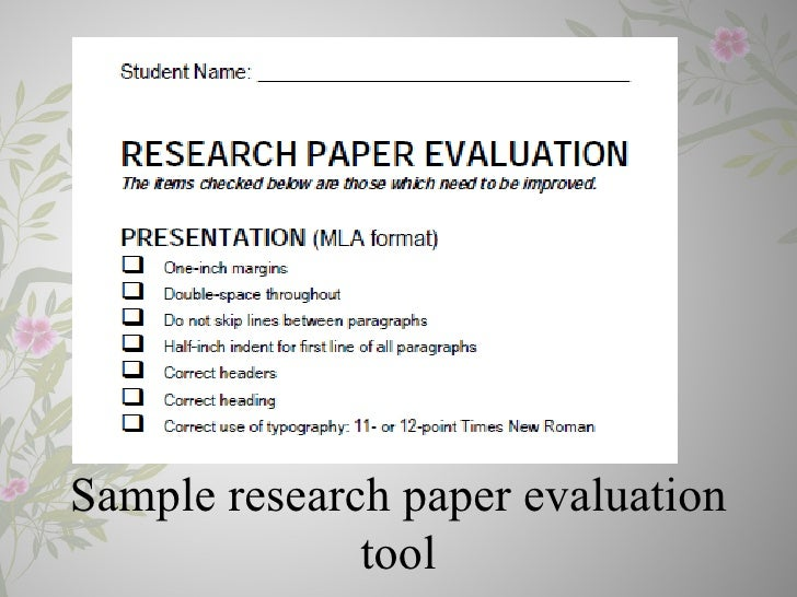 Dissertation proposal on a evaluative study