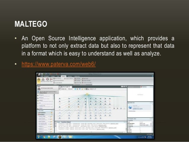 Tools for Open Source Intelligence (OSINT)