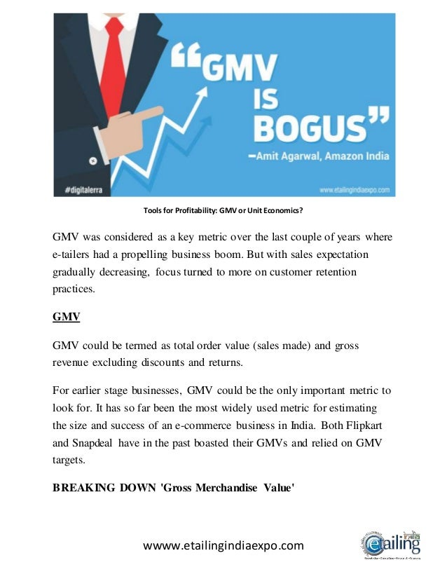 1 Microsoft Wwww Bing Com: Tools For Profitability; Gmv Or Unit Economics