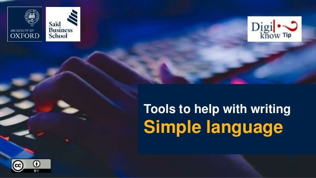 Tools to help with writing Simple language