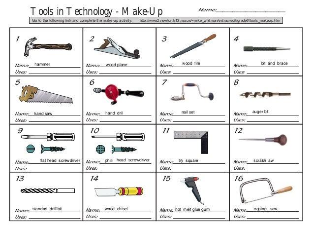 Hidden Tools | Worksheet | Education.com