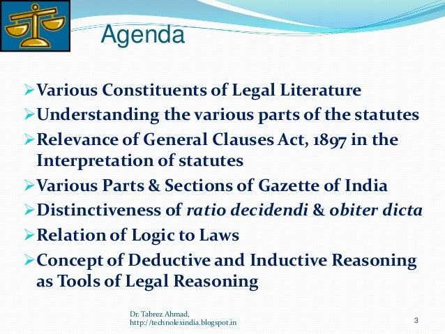 Ratio decidendi and obiter dicta essays