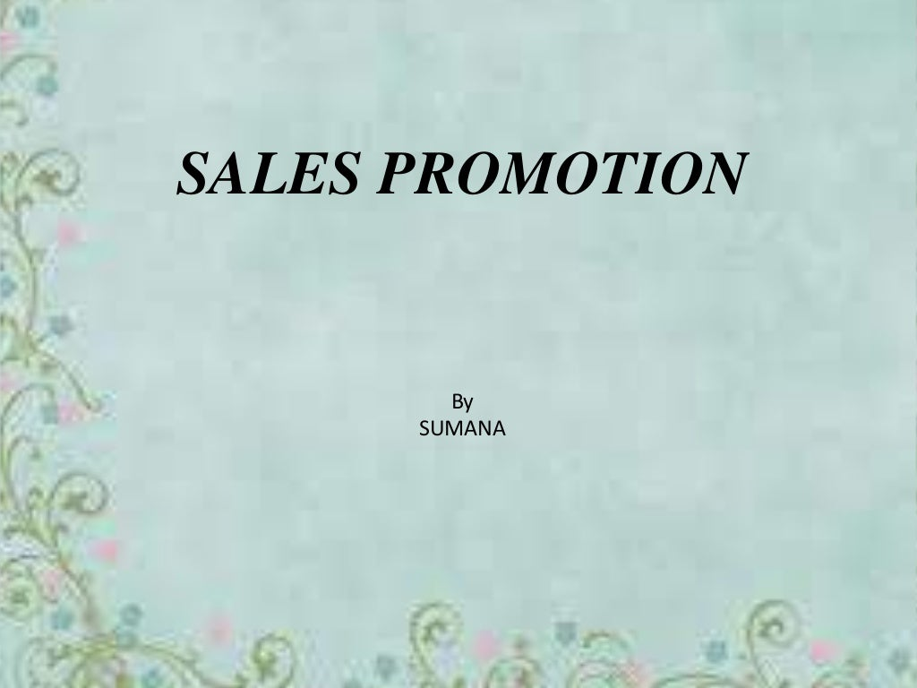 Tools of sales promotion