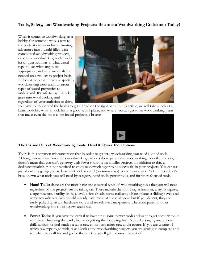 Tools Safety And Woodwork Projects Become A Woodworking