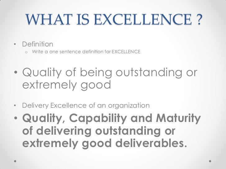 an analysis of quality or excellence Resource consumption and expenses first, the quality of report- closing excellence - an analysis of the financial reporting process of 60 large and medium-sized.