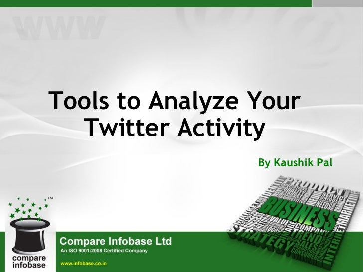 Tools to Analyze Your Twitter Activity By Kaushik Pal