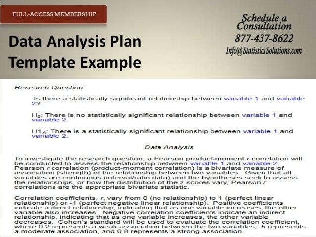 data analysis plan research proposal example