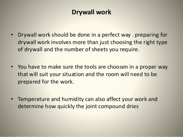 Tools used in drywall installation Slide 2