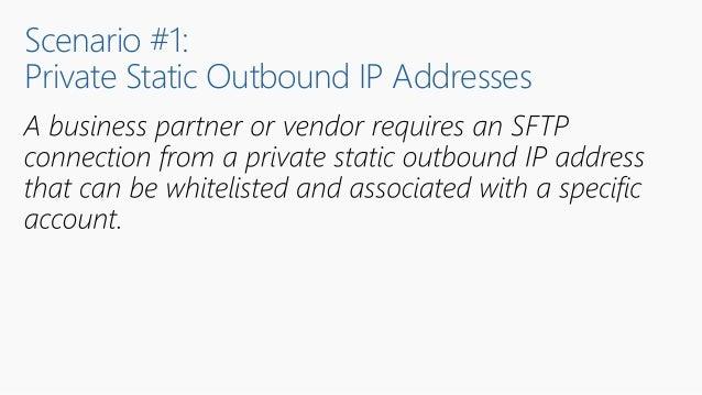 Scenario #1: Private Static Outbound IP Addresses