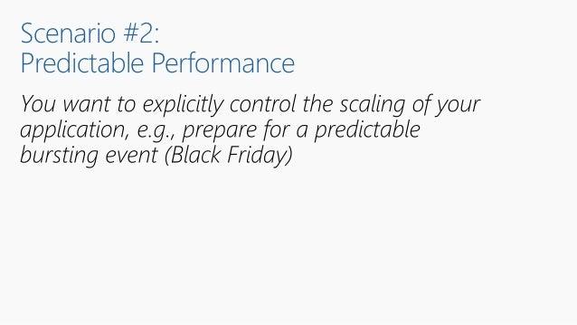 Scenario #2: Predictable Performance