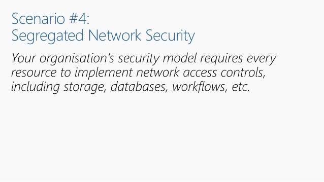 Scenario #4: Segregated Network Security