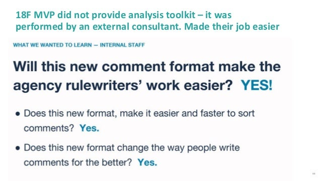 33 18F MVP did not provide analysis toolkit – it was performed by an external consultant. Made their job easier