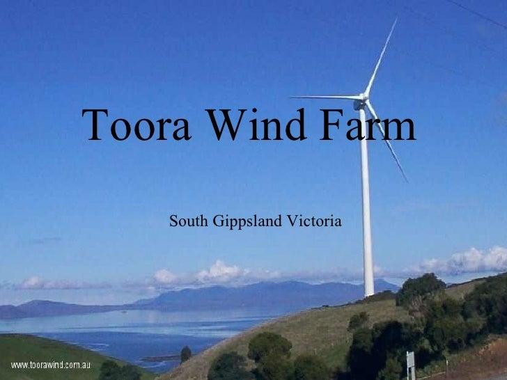 Toora Wind Farm South Gippsland Victoria