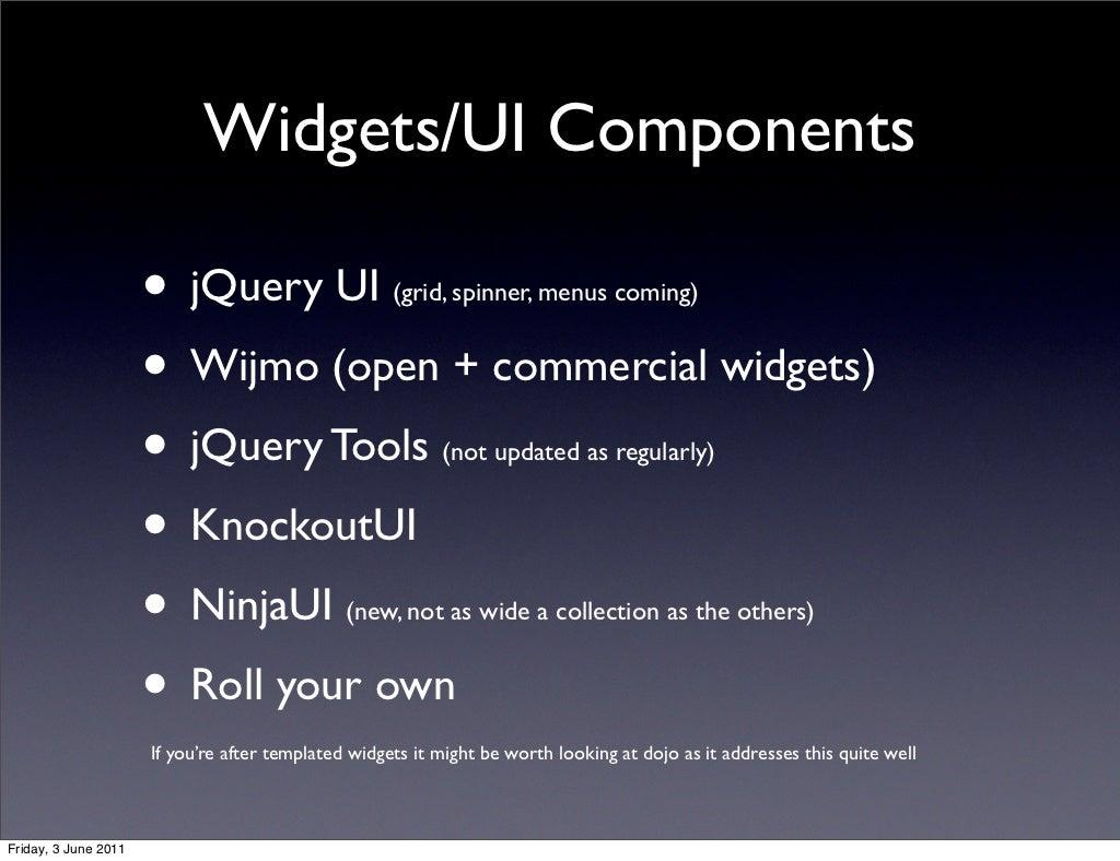Widgets/UI Components • jQuery UI