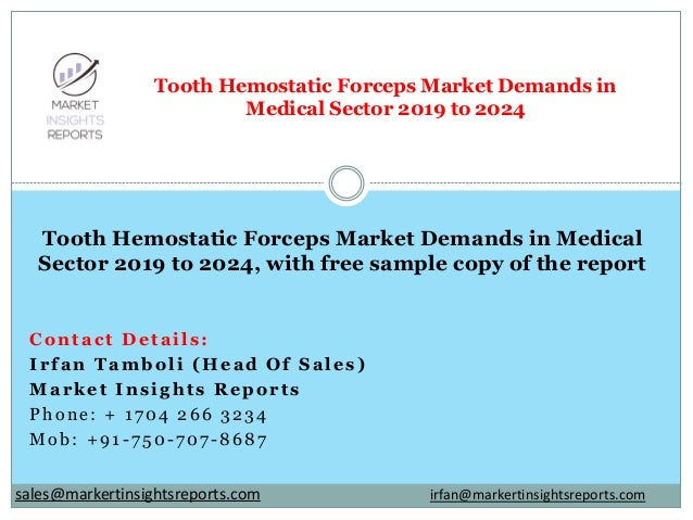 Contact Details: Irfan Tamboli (Head Of Sales) Market Insights Reports Phone: + 1704 266 3234 Mob: +91-750-707-8687 Tooth ...