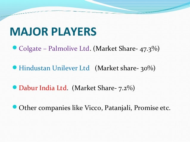 introduction of toothpaste industry in india An introduction to india vodafone open office including those in the group's industry the indian telecoms market is divided into 22 circles.