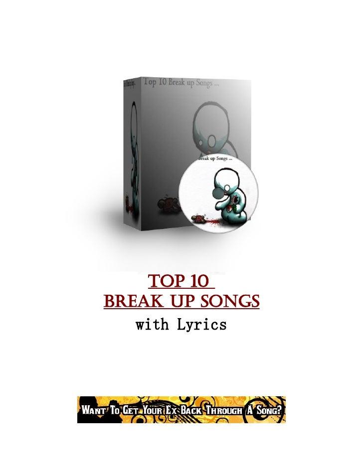 Top 10 Break up Songs    with Lyrics