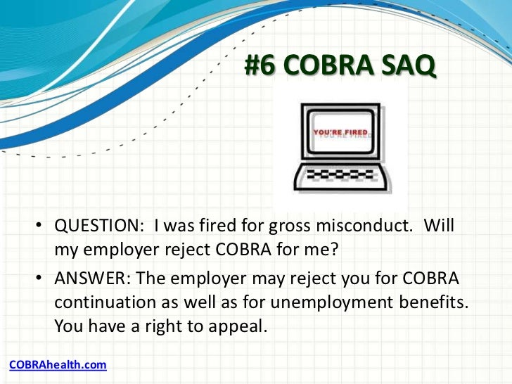 cobra insurance Cobra continuation of benefits the consolidated omnibus budget reconciliation act (cobra) allows employees and dependents to continue health insurance coverage at.