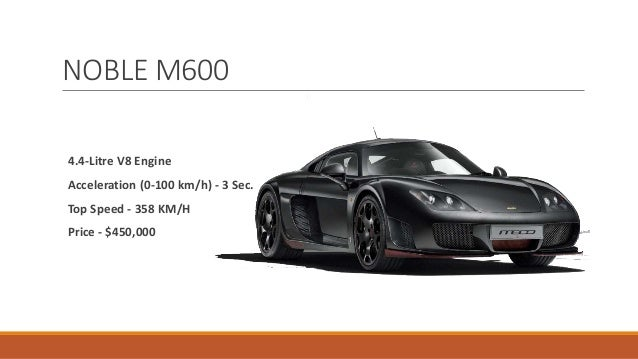 Top Speed   370 KM/H Price   $1,314,000; 9.