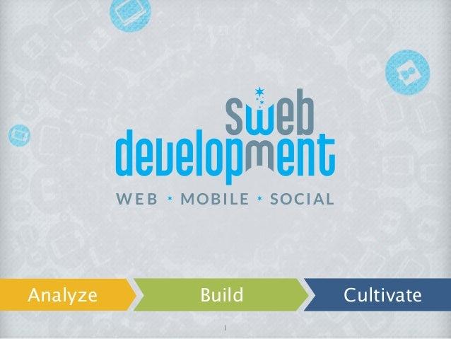 W E B MOBILE SOCIALAnalyze Build Cultivate1
