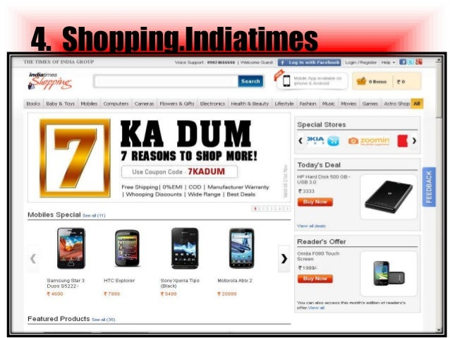 Top 10 online shopping websites in india 2014 for Biggest online shopping site
