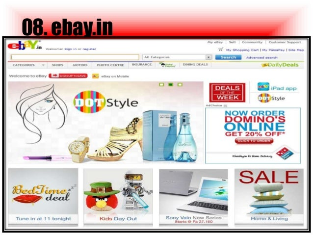 Top 10 online shopping websites in india 2014 for Best websites for online shopping