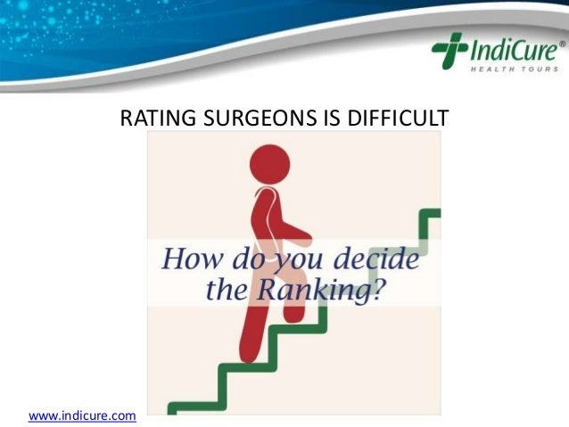 RATING SURGEONS IS DIFFICULT www.indicure.com ...