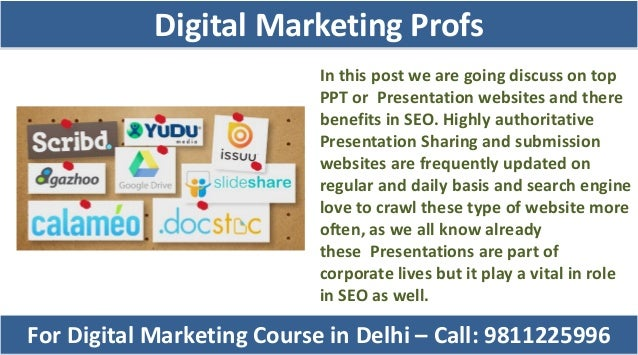 In this post we are going discuss on top PPT or Presentation websites and there benefits in SEO. Highly authoritative Pres...