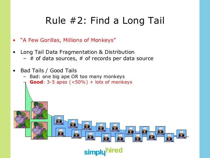 """Rule #2: Find a Long Tail <ul><li>"""" A Few Gorillas, Millions of Monkeys"""" </li></ul><ul><li>Long Tail Data Fragmentation & ..."""