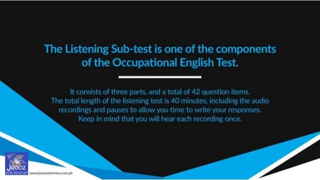 Top 10 Test-taking Tips for the OET Listening Sub-test Slide 2
