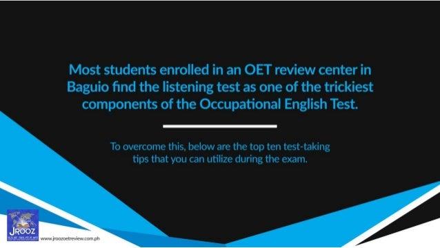 Top 10 Test-taking Tips for the OET Listening Sub-test Slide 3