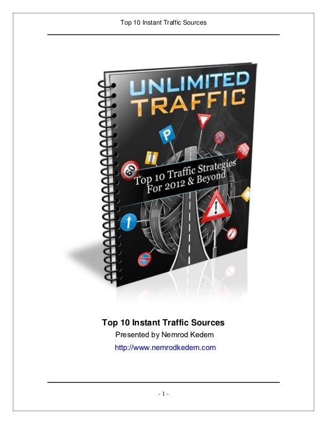 Top 10 Instant Traffic SourcesTop 10 Instant Traffic Sources   Presented by Nemrod Kedem   http://www.nemrodkedem.com     ...