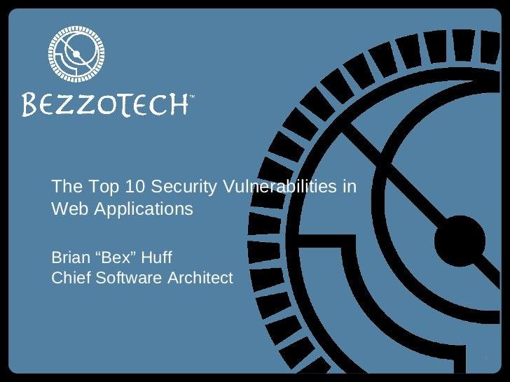 Top 10 Web Security Vulnerabilities (OWASP Top 10)