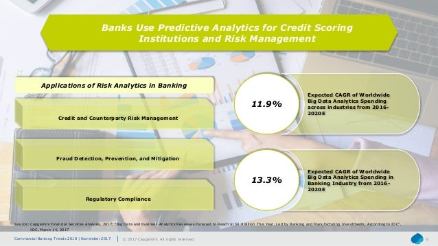 Commercial Banking Trends 2018 | November 2017 © 2017 Capgemini. All rights reserved. 8 Banks Use Predictive Analytics for...